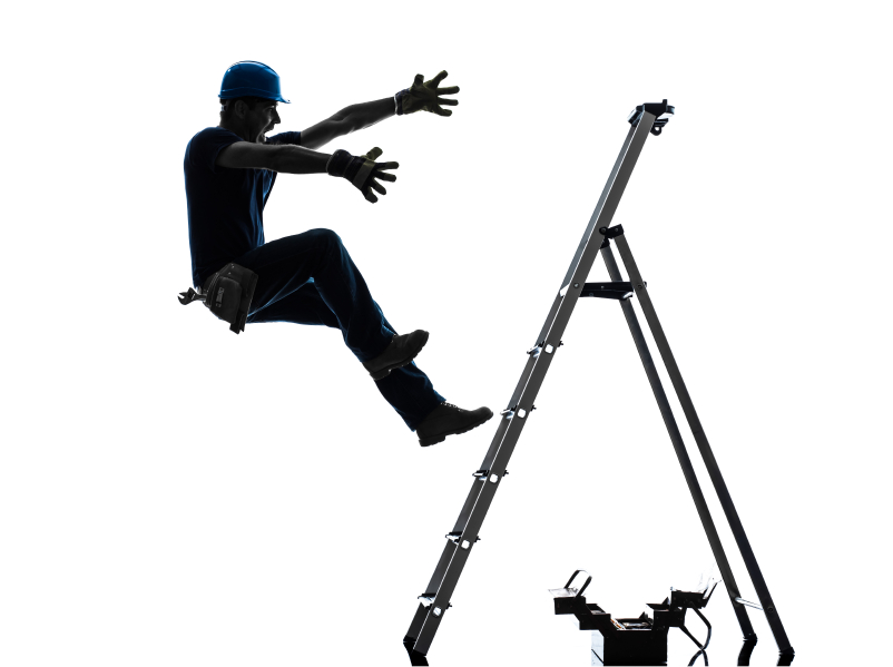 Falling off a ladder won't hurt you; it's what happens when you ...